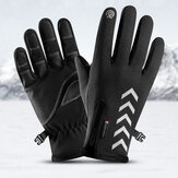 Radfahren warme Handschuhe Saison Outdoor wasserdichte Sportarten Anti-Rutsch-Fünf-Finger-Touchscreen Night Riding Highlight Reflektierende Handschuhe