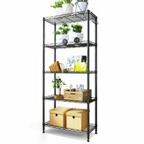 5 Tier Steel Wire Shelving Unit Metal Rack Home Kitchen Storage Rack Shelf Adjustable