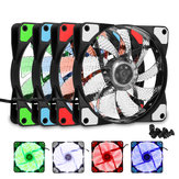 120mm PC Computer Case Fan Ultra Silent 15 LED Lights Cooler Cooling Heatsink