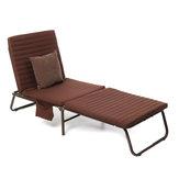 Klappbett für die Mittagspause Fashion Sonnenliegen Liegestuhl Sommerbüro Mittagspause Mittagsschläfchen Einzelklappbett Erwachsene Bett mit praktischer Platzersparnis