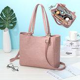 女性の純粋な色の固体多機能取り外し可能なボトルバッグショッピングショルダーバッグハンドバッグ