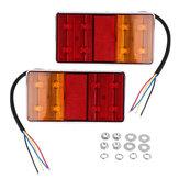 2 ШТ. 8 LED Индикаторы Заднего Тормоза IP67 Водонепроницаемы Красный Желтый Цвет Универсальный Для 12 В Грузовой Прицеп
