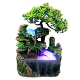 LED Desktop Mini Żywica Rockery Garden Landscape Decor