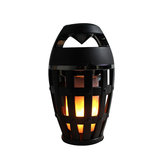 Wireless bluetooth Speaker LED Flame Light Night Lamp Portable Stereo Speaker with Flickers Warm White Light