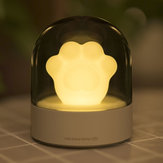 3Life 006 Creative Cat Paw Musical Night ضوء USB شحن LED Night ضوء مدمج In Music Player التحكم عن بعد مراقبة Table Lamps From Xiaomi Youpin