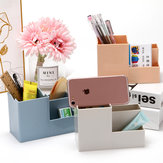 Desktop 4 Grids Remote Control Storage Box Pen Holder Stationery Cosmetics Makeup Brushes Holder Organizer Home Office Supplies