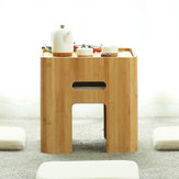 CHENGSHE Modern Minimalist Bamboo Coffee Table Japanese Style Low Wooden Table from