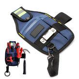حقيبة أدوات كهربائي الصلبة المهنية مع الشريط مشبك 3 جيوب 26 × 15 سم