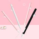 Caneta de gel de sílica bonito Caso para a Apple Pencil Anti-queda Magnetic Split Pencil Caso para Ipad Pencil