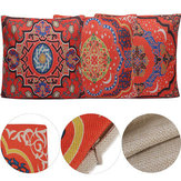 Square Red Geometry Throw Waist Pillow Case Cover Seat Cushion Sofa Bed Home Decor