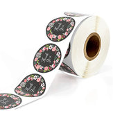 500Pcs/Set Round Thank You Stickers Paper Envelope Packaging Gift Label Roll Tape