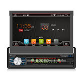 YUEHOO 7 Inch 1 DIN Android 8.1 Car DVD Player Retractable Touch Screen Stereo Radio 8 Core 1+32G/2+32G WIFI 4G GPS FM AM RDS