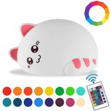 RGB USB Rechargeable LED Kid Children Cat Night Light Lamp Nursery Baby Bedroom