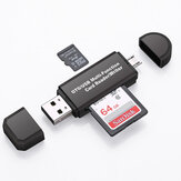 USB 2.0 Multi-Card Reader Kartu TF OTG Reader USB Micro Interface untuk Smartphone