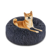 Dog Pet Bed Cat Bed Faux Fur Cuddler Round Comfortable Size Ultra Soft Calming Bed for Dogs and Cats Self Warming Indoor Snooze Sleeping Cushion Bed