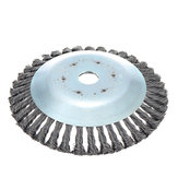 8 Inch Weed Brush Steel Wire Wheel Grout For Brushes Cutter Replacement Weed Eater Trimmer Head