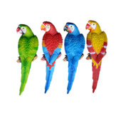 Resin Lifelike Bird Ornament Statue Parrot Model Figurine Home Lawn Sculpture Decorations