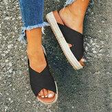 Women Open Toe Espadrilles Summer Platform Sandals