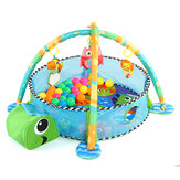 Gym Infant Floor Activity Play Baby Mat Turtle With Fun Balls Toys Playmat