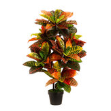 43 '' Kunstmatig Croton Outdoor UV Topiary Boomstruik Palm Plant Pot Zwembad Patio Decoraties