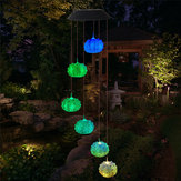 Solar Powered Wind Chime Light LED Garden Hanging Spinner Lamp Changement de couleur