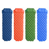190x56cm al aire libre Colchones de aire inflables prensados portátiles cámping Colchoneta individual con almohada