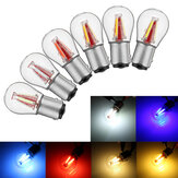 Upgraded 1157 BAY15D 21/5W 4 Filament COB LED Stop Brake Lights Bulb Parking Turn Lamp 450LM Super Bright 12V-24V