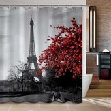 Bathroom 3D Printed Polyester Fabric Colorful Peacock Shower Curtain Waterproof Bath Curtains With 12 Hooks