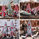 Non-Woven Hat With Heart Handmade Gnome Santa Christmas Figurines Ornament Holiday Table Decorations Festive Present