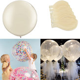 6 Teile / satz Klar 36 '' Large Giant Latex Big Oval Ballon Hochzeit Dekorationen