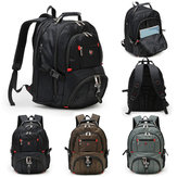 Men Nylon High Capacity Travel Rucksack Notebook 15.6