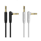 BOROFONE 3.5mm Male to Male 90 Degree Right Angle Audio AUX Data Cable For iPhone X 8Plus Oneplus 6T 7 Pro