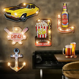 Vintage Retro LED Metalen Tin Teken Poster Plaque Bar Pub Club Muur Home Decor LED Plaatwerk Teken Kerstversiering