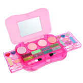 Princess Makeup Set Toys for Kids Cosmetic Girls Kit Eyeshadow Lip Gloss Blush
