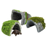 Reptielen Habitat Aquarium Hiding Cave Hars Schildpad Koesteren Decoraties Ornament