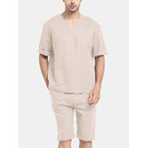 Mens Casual Comfort Pajamas Set Sleepwear