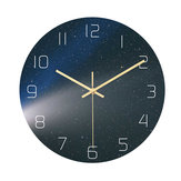Loskii CC024 Creative Starry Pattern Wall Clock Mute Wall Clock Quartz Wall Clock For Home Office Decorations