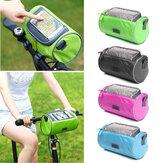 BIKIGHT 22cmx12cmx12cm防水スクリーンタッチ可能なサイクリングパニエチューブGPS携帯電話バッグマウンテンフレーム用自転車フレームバッグ