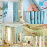 2pcs 100*250cm High Shading Curtain Owl Cartoon Curtains Window Scarf Drapes Living Room Kids Children Bedroom Study