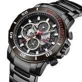 NAVIFORCE NF9174 militar Style Full Steel Men Reloj de pulsera