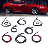 8 Pcs Car Door Dustproof Sealing Strip Noise Reduction For Tesla MODEL 3/S/X