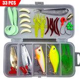 ZANLURE 33-142 Pcs Fishing Lure Tackles Kit Lures Baits Set Fishing Hooks