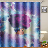 African Painting Art Bath Shower Curtain Waterproof Polyester Fabric Bathroom Decorations