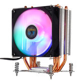 3Pin 1 Fans 4 Heatpipes Colorful Backlit CPU Cooling Fan Cooler Heatsink for Intel LGA 775/1150/1151/1155/1156/1366