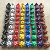 10Pcs Polyhedral Dices DND Games Desktop Board Games Dice with Storage Bolsa