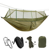 260x140cm Outdoor Double Camping Hammock Hanging Swing Bed With Mosquito Net