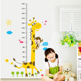 Removable Height Chart Measure Wall Sticker Giraffe Decal for Kids Baby Room