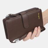 Baellerry Men Kunstleder Long Wallet Phone Bag Kartenhalter Clutches Bag For Business