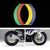 16 stücke Reifen Reflexstreifen Band Styling Rad Aufkleber Felge Für 17 Zoll 18 Zoll Auto Motorrad Bike Reifen