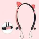 Bakeey ZW29 Cat Ear Cartoon Leuke Magnetische Bluetooth Oortelefoon Hoofdband Verlichting Sport Hoofdtelefoon voor Dames Geschenken